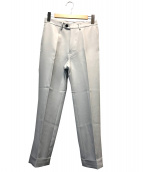 KAIKO(カイコ)の古着「ポリエステルツイルトラウザーパンツ」|ライトグレー