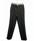 KAIKO(カイコ)の古着「ポリエステルツイルトラウザーパンツ」|グレー