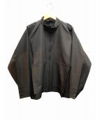 ISSEY MIYAKE(イッセイミヤケ)の古着「ノーカラージャケット」 ブラック
