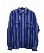 SEVEN BY SEVEN(セブンバイセブン)の古着「ストライプシャツ」|ブルー