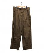 MAISON FLANEUR(メゾン フラネウール)の古着「タックワイドパンツ」 ベージュ