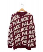 PALACE(パレス)の古着「総柄ニット」 ボルドー