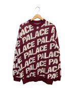 PALACE(パレス)の古着「総柄ニット」|ボルドー