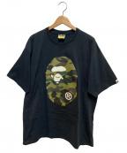 BAPE BY A BATHING APE(ベイプバイアベイシングエイプ)の古着「プリントTシャツ」|ブラック