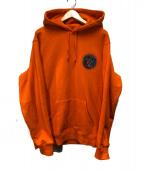 Supreme(シュプリーム)の古着「エンブリオフーデットスウェットシャツ」|オレンジ