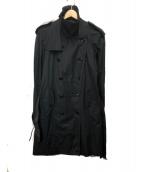 COMME des GARCONS HommePlus(コムデギャルソンオムプリュス)の古着「トレンチコート」|ブラック