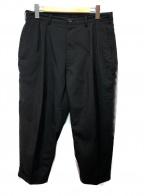 SSZ(エスエスゼット)の古着「スラックスパンツ」|ブラック