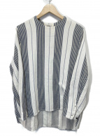 SUNSEA(サンシー)の古着「ベットストライププルオーバー」|ベージュ