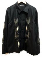 OUR LEGACY(アワーレガシー)の古着「エンブロイダリーシャツ」 ブラック