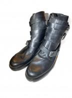 KRIS VAN ASSCHE(クリス ヴァン アッシュ)の古着「コンバットベルトブーツ」 ブラック