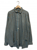 Needles(ニードルス)の古着「プルオーバーチェックシャツ」 グリーン