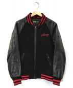 X-LARGE(エクストララージ)の古着「スタジャン」|ブラック