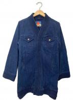blackmeans(ブラックミーンズ)の古着「デニムカーディガン」|インディゴ