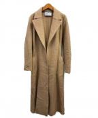 HARRIS WHARF LONDON(ハリスワーフロンドン)の古着「ウールリバーコート」|ベージュ
