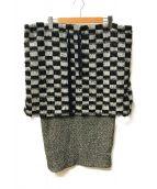 FACETASM(ファセッタズム)の古着「レイヤードウールスカート」|グレー