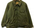 US NAVY(ユーエスネイビー)の古着「80sヴィンテージA-2デッキジャケット」|カーキ