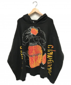 clawfinger(クロウフィンガー)の古着「90'sヴィンテージマルチプリントフーディ」|ブラック