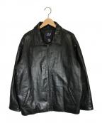 OLD GAP(オールドギャップ)の古着「90'sヴィンテージレザージャケット」|ブラック