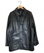 OLD GAP(オールドギャップ)の古着「90'sヴィンテージレザーコート」|ブラック