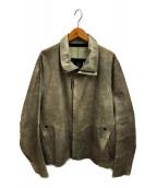 ISAAC SELLAM EXPERIENCE(アイザックセラム エクスペリエンス)の古着「Malfratレザージャケット」|グレー