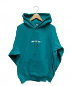 UNDEFEATED(アンディフィーテッド)の古着「ロゴ刺繍プルオーバーパーカー」|ブルー