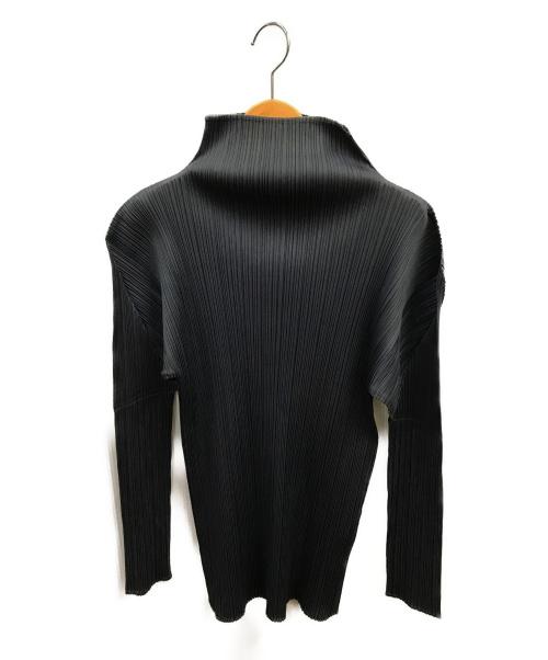PLEATS PLEASE(プリーツプリーズ)PLEATS PLEASE (プリーツプリーズ) ハイネックプリーツカットソー グレー サイズ:3の古着・服飾アイテム