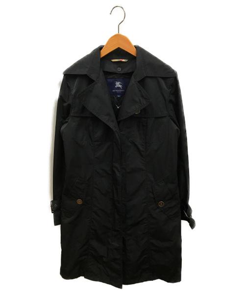 BURBERRY LONDON(バーバリーロンドン)BURBERRY LONDON (バーバリーロンドン) ポリコットンツイルシングルトレンチコート ブラック サイズ:38の古着・服飾アイテム