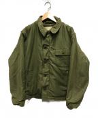US NAVY(ユーエスネイビー)の古着「70'sヴィンテージA-2デッキジャケット」|カーキ