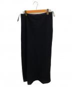 JIL SANDER()の古着「ウールロングスカート」|ブラック
