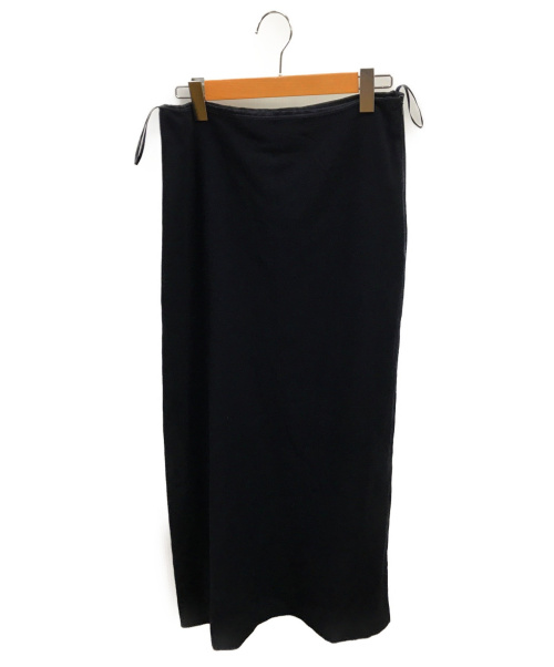 JIL SANDER(ジルサンダー)JIL SANDER (ジルサンダー) ウールロングスカート ブラック サイズ:40の古着・服飾アイテム