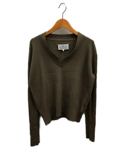 Maison Margiela(メゾンマルジェラ)Maison Margiela (メゾンマルジェラ) ウールリブVネックニット グレー サイズ:S  S51HA0664S15658の古着・服飾アイテム
