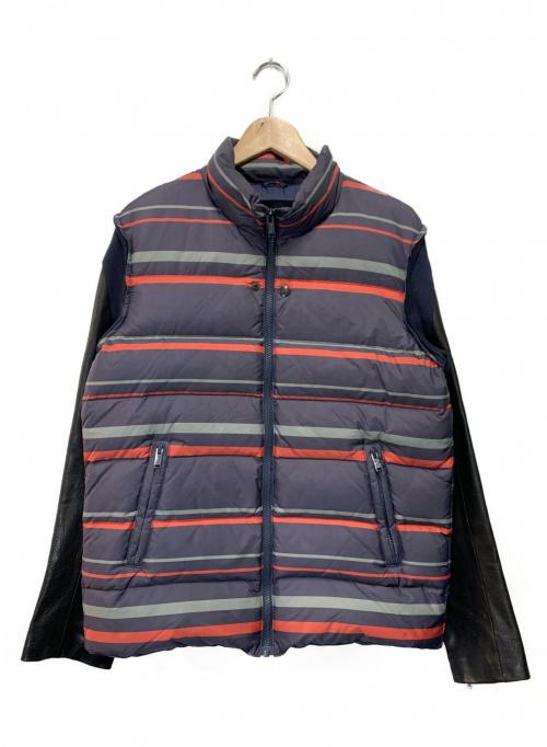 UNDERCOVERISM(アンダーカバーイズム)UNDERCOVERISM (アンダーカバーイズム) レザーダウン切替ブルゾン パープル サイズ:L 14AW の古着・服飾アイテム