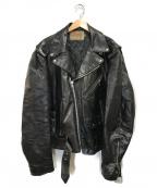 EXCELLED(エクセル)の古着「80sヴィンテージレザージャケット」|ブラック