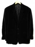 Yohji Yamamoto COSTUME DHOMME(ヨウジヤマモトコスチュームドオム)の古着「ベロアテーラードジャケット」|ブラック