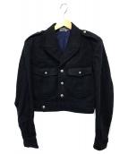 GOOD DESIGN SHOP COMME des GAR(グッドデザインショップコムデギャルソン)の古着「バックロゴウールジャケット」|ネイビー