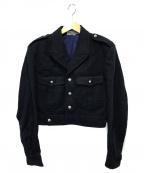 GOOD DESIGN SHOP COMME des GAR(グッドデザインショップコムデギャルソン)の古着「バックロゴウールジャケット」 ネイビー