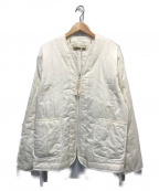 YSTRDYS TMRRW(イエスタディズトゥモロー)の古着「コットンサテンパシフィックパフジャケット」 ホワイト