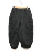 BLACK COMME des GARCONS(ブラックコムデギャルソン)の古着「ポリ縮絨バルーンパンツ」|ブラック