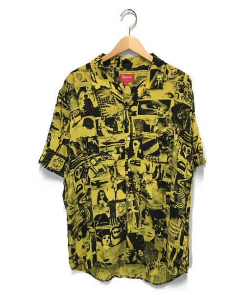 SUPREME(シュプリーム)Supreme (シュプリーム) ヴァイブレーションレーヨンシャツ イエロー サイズ:L Vibration Rayon Shirtの古着・服飾アイテム