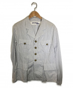 CDG JUNYA WATANABE MAN(コムデギャルソン ジュンヤワタナベマン)の古着「金ボタンオープンカラーチェックシャツ」 ホワイト