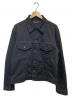 MINEDENIM(マインデニム)の古着「ブラックデニムジャケット」|ブラック