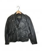 Leather Gallery(レザーギャラリー)の古着「レザージャケット」|ブラック
