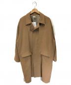 SEEALL(シーオール)の古着「オーバーコート」 ベージュ