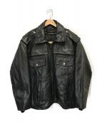 Taylors Leatherwear(テイラーズレザーウェア)の古着「ポリスマンレザージャケット」|ブラック