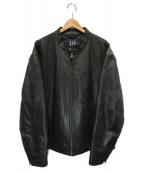 OLD GAP(オールドギャップ)の古着「01'sオールドシングルライダースジャケット」|ブラック