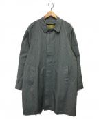 TOWN CRAFT(タウンクラフト)の古着「70'sヴィンテージステンカラーコート」 グレー