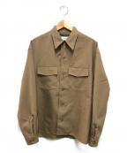 LEMAIRE()の古着「コーンバーティブルカラーシャツ」 ブラウン