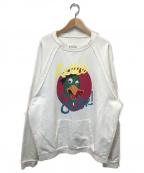 Maison Margiela10(メゾンマルジェラ10)の古着「コットンスウェットシャツトレーナー」|ホワイト