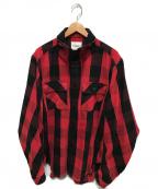 TAKAHIROMIYASHITA TheSoloIst.(タカヒロミヤシタザソロイスト)の古着「バルーンスリーブCPOジャケット」|レッド×ブラック