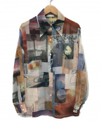 PHEENY(フィーニー)の古着「プリントシフォンシャツ」 マルチカラー